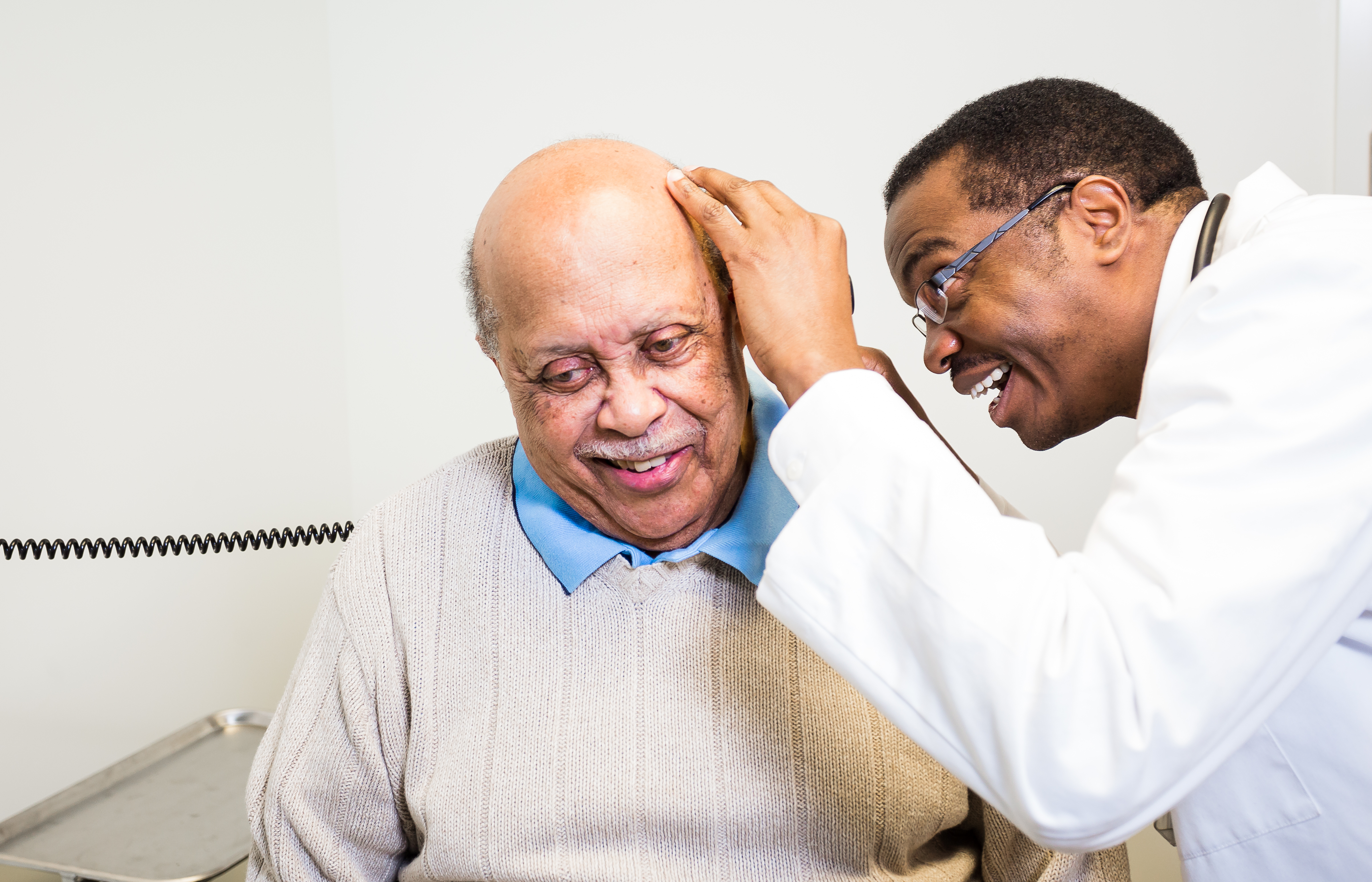 Dr. Marvin Crawford and patient