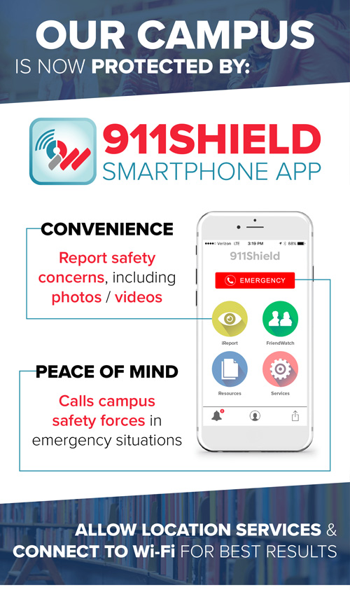 Our campus is protected by 911Shield