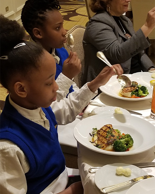 Manners Matter: MSM Takes TAG Academy Students to Four Seasons for a Lesson in Etiquette
