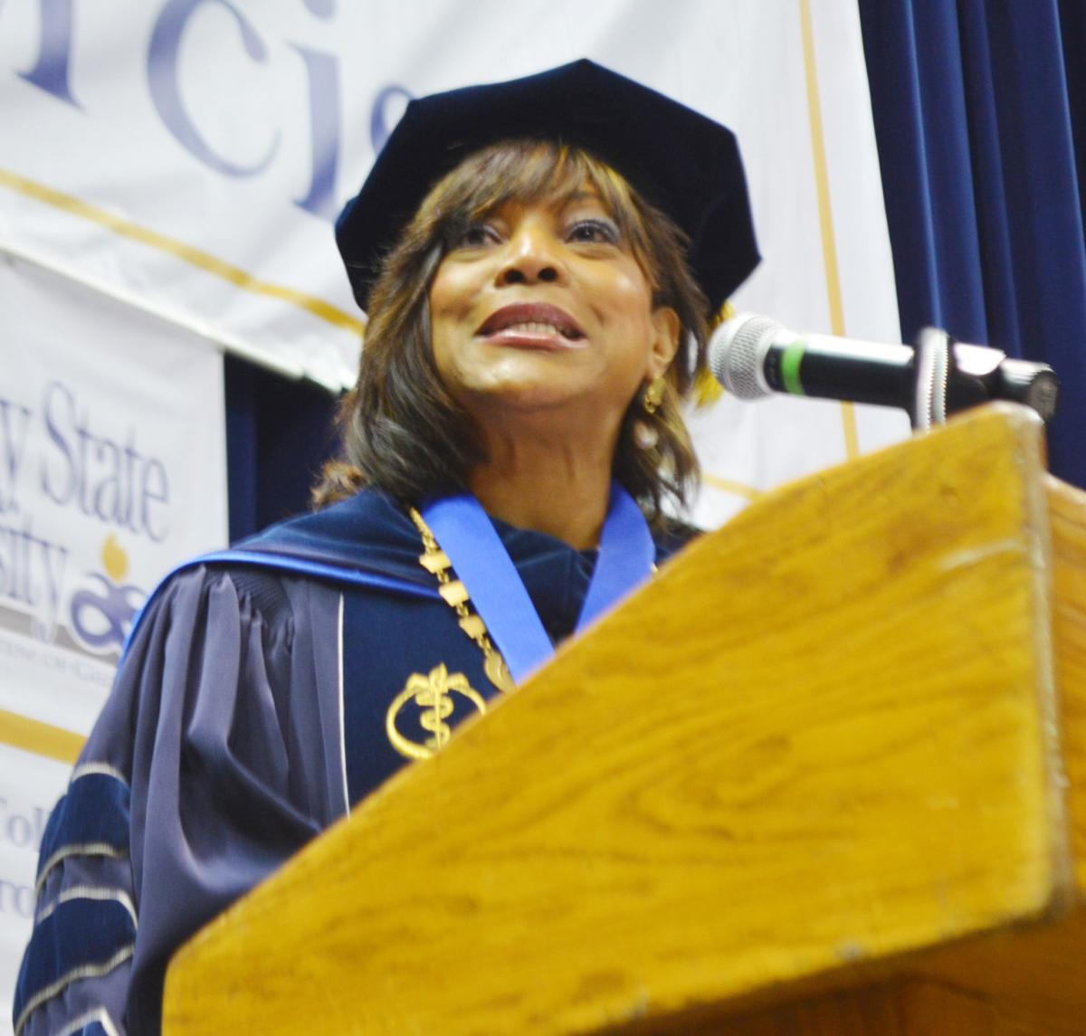 'Be Prepared to Stand On Your Own' Says Montgomery Rice to Albany State Grads