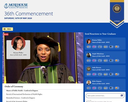 a live stream of commencement