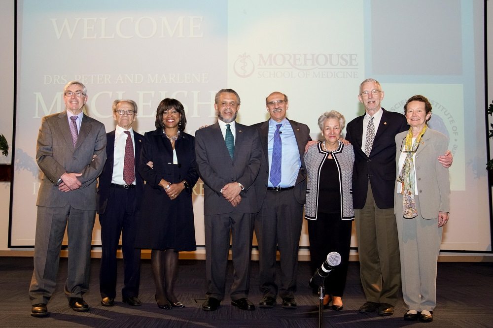 On March 27, 2018, Morehouse School of Medicine (MSM) held its inaugural Drs. Peter and Marlene MacLeish Endowed Lectureship Lectures presented by Nobel Prize winner Martin Chalfie, Ph.D. MSM raised more than $250,000 for the lectureship.
