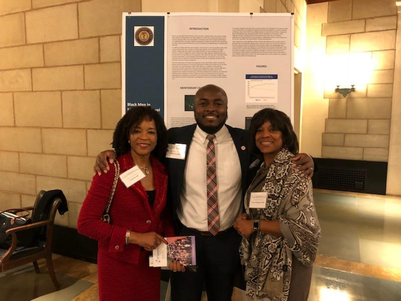 Martin Campbell, Dr. Valerie Montgomery Rice and Dr. Elizabeth Ofili at the National Academy of Sciences