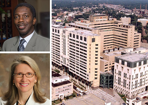 Grady's Georgia Cancer Center for Excellence, whose principal investigators are Drs. Roland Matthews (Morehouse School of Medicine) and Sheryl Gabram (Emory), receives $2M to advance patient-centered care and reduce disparities in care for underserved populations.