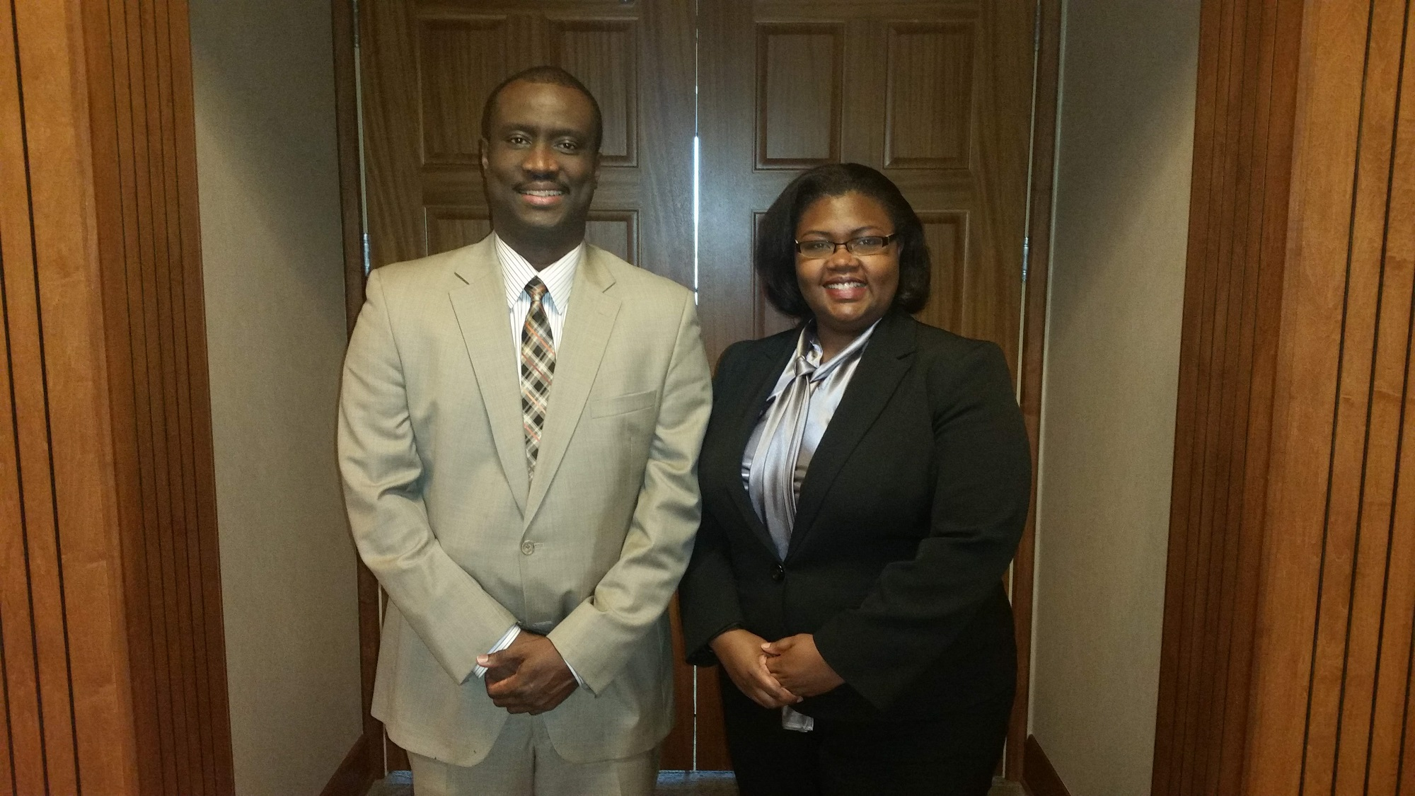 Dr. Larry Hobson and Shaneeta Johnson
