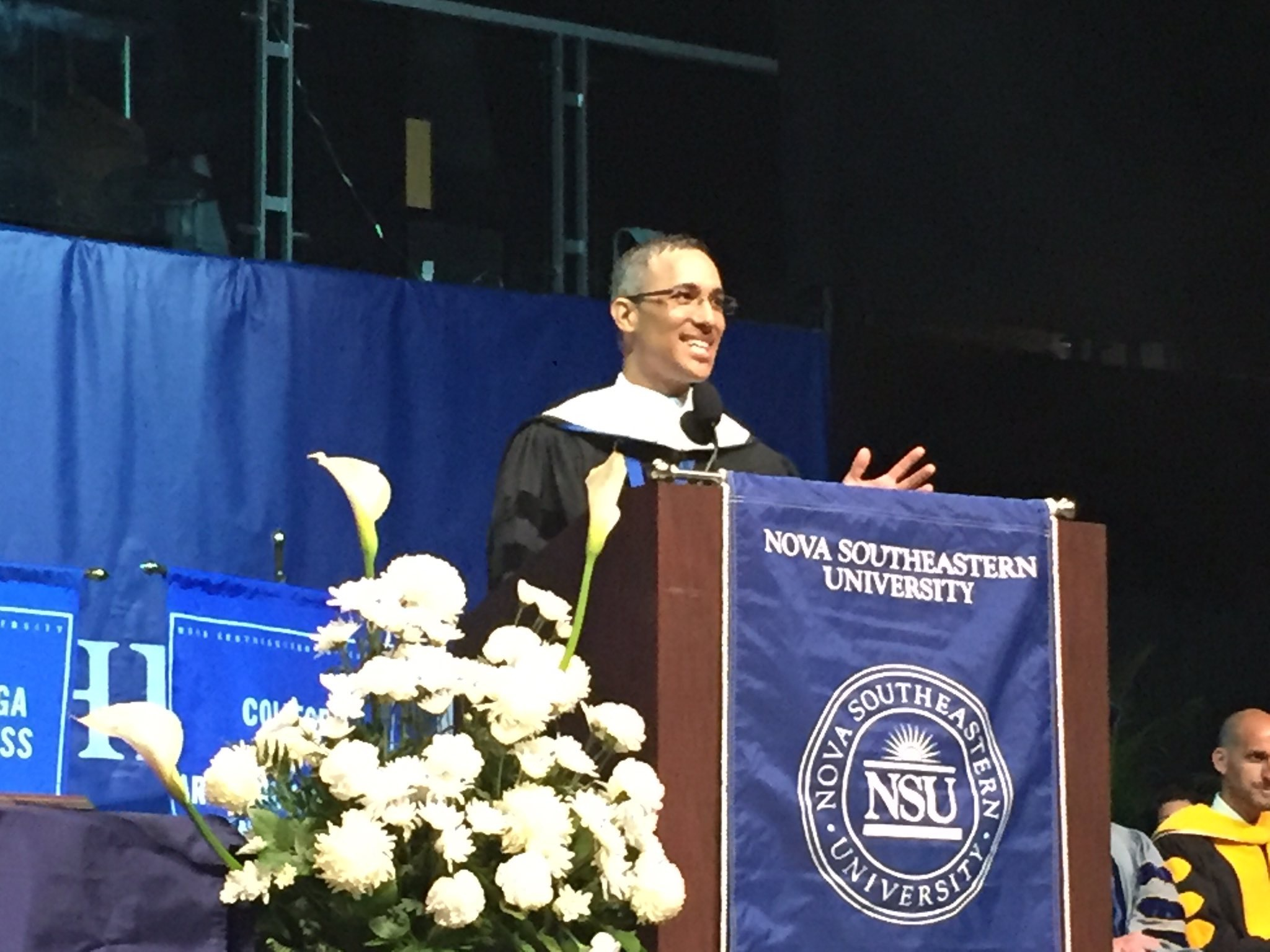MSM's Daniel Dawes Tells Nova Southeastern University Graduates to 'Write Their Own Chapter'