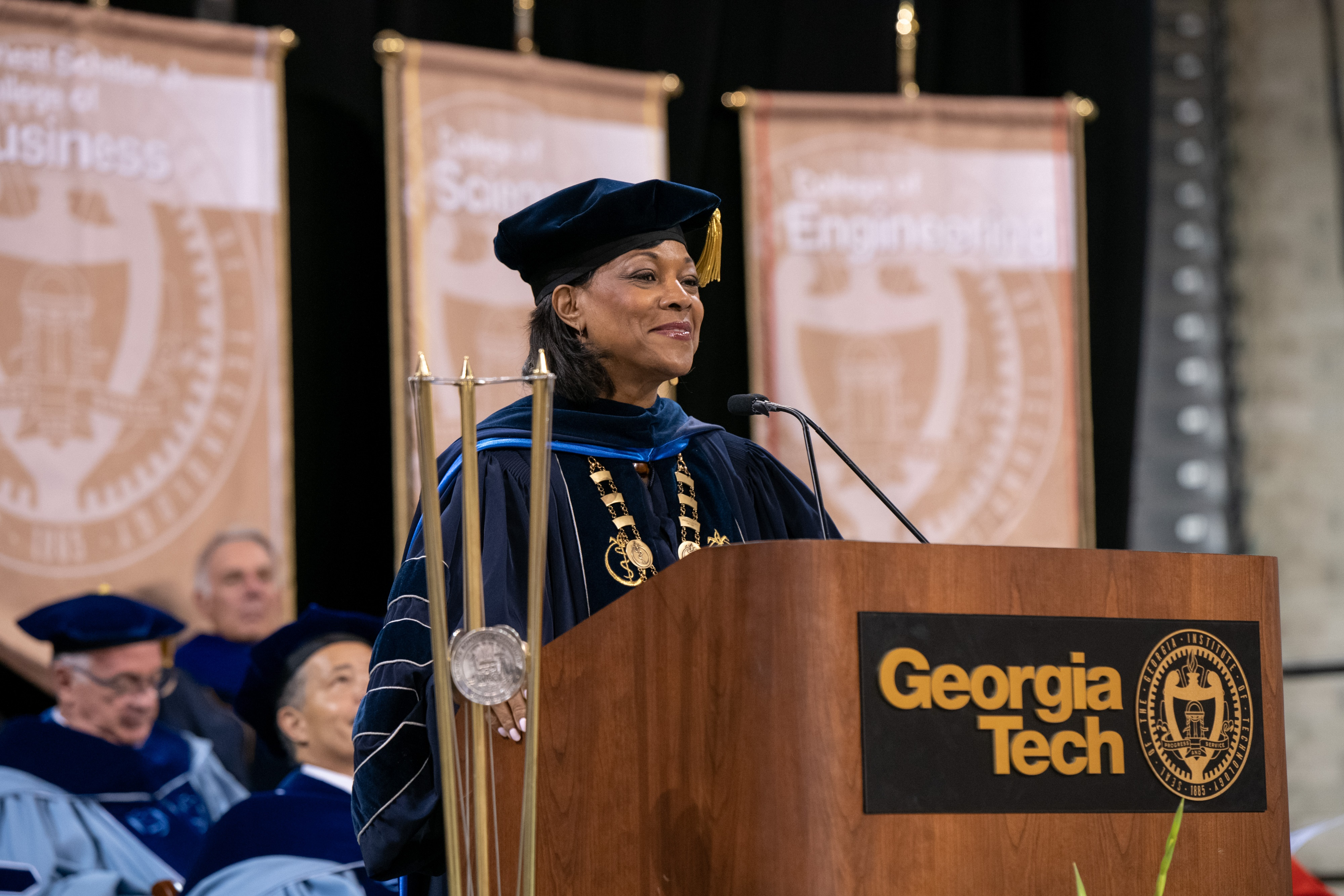 Dr. Montgomery Rice Encourages Graduates to 'Master the Middle' and to Not Fear Failure