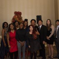 A group at the holiday party