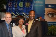 (L-R) Eric Green, M.D., Director, NHGRI, with Valerie Montgomery Rice, M.D., President and Dean, MSM and Rep. Derrick Jackson (District 64)