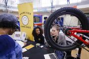 Bearings Bike Shop speaks with Community Engagement Day guests