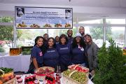 The South Atlanta Fresh Market booth, led by Pamela Cooper, Manager of Recruitment and Retention Core, Clinical Research Center at MSM provides free fresh vegetables and fruit baskets to guest of Community Engagement Day
