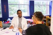 Mercer University medical students provide blood pressure and glucose checks