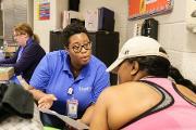 Morehouse Healthcare staff provide flu shots