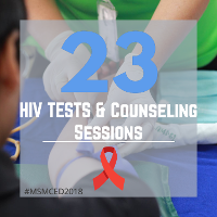 23 HIV Tests and Counseling Sessions
