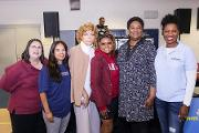 (L-R) Adrianne Proeller (MSM), Dr. Natalie Hernandez (MSM), Ms. Anne Phillips (Living Wills Workshop), Ms. Park Cannon (GA House of Representatives), Ms. Felisha Moore (Atlanta City Council), and Dr. Tabia Akintobi (MSM)