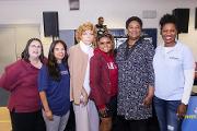 (L-R) Adrianne Proeller (MSM), Dr. Natalie Hernandez (MSM), Ms. Anne Phillips (Living Wills Workshop), Ms. Park Cannon (GA House of Representatives), Ms. Felisha Moore (Atlanta City Council), and Dr. Tabia Akintobi (MSM)