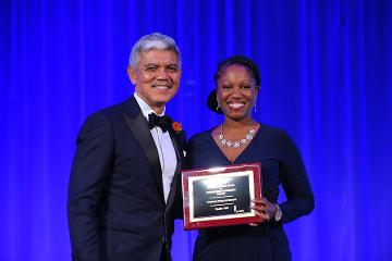 Dr. Akintobi Accepts Spencer Forman Finalists Award on Behalf of MSM