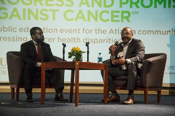Brian Rivers, PhD, MPH, co-director of the Cancer Health Equity Institute at Morehouse School of Medicine, and James Lillard, PhD, MBA, associate dean for research at Morehouse School of Medicine, host a Fireside Chat on AACR's new 2020 by 2020 Initiative.