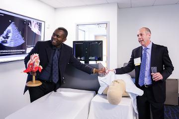 an interactive presentation using an ultrasound