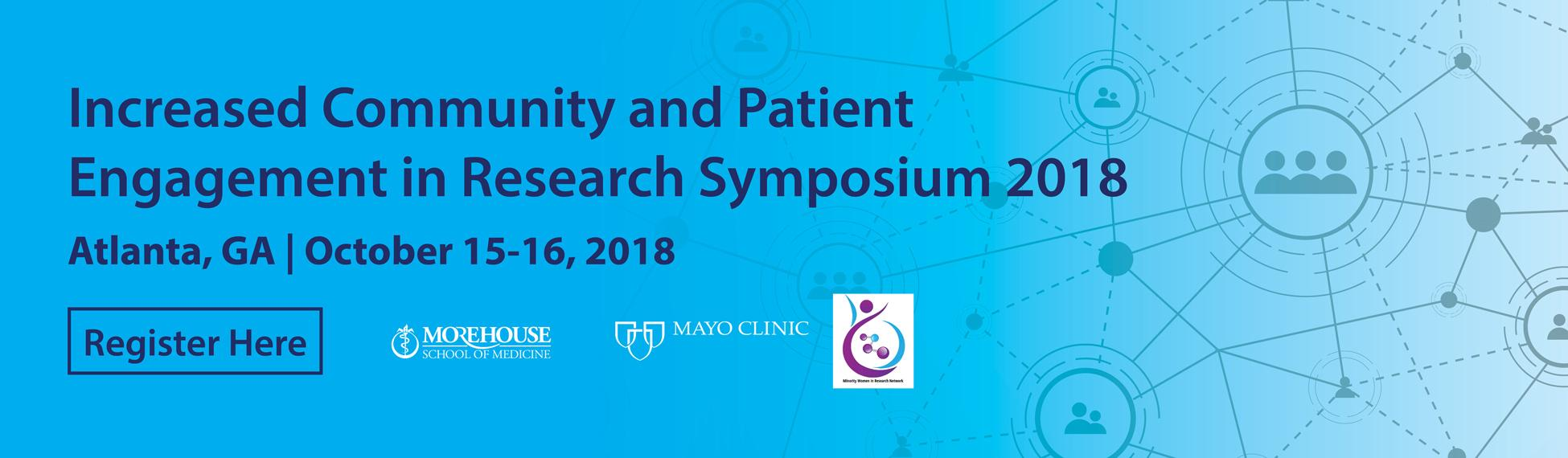 Register for Increased Community and Patient Engagement Symposium 2018