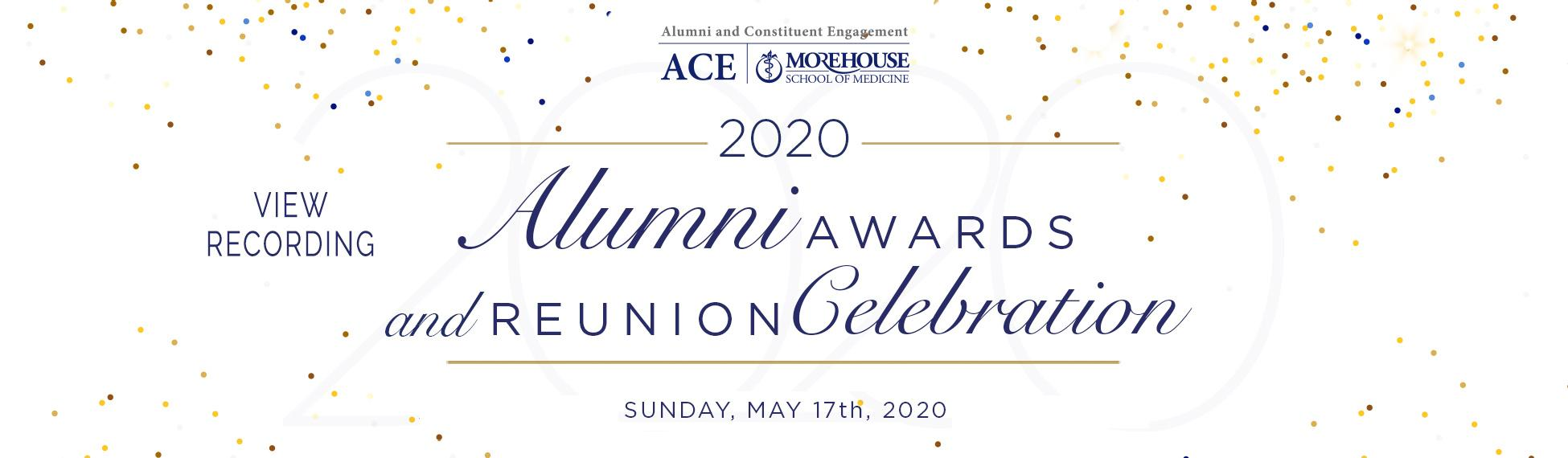 View Recording of 2020 Alumni Awards and Reunion Celebration