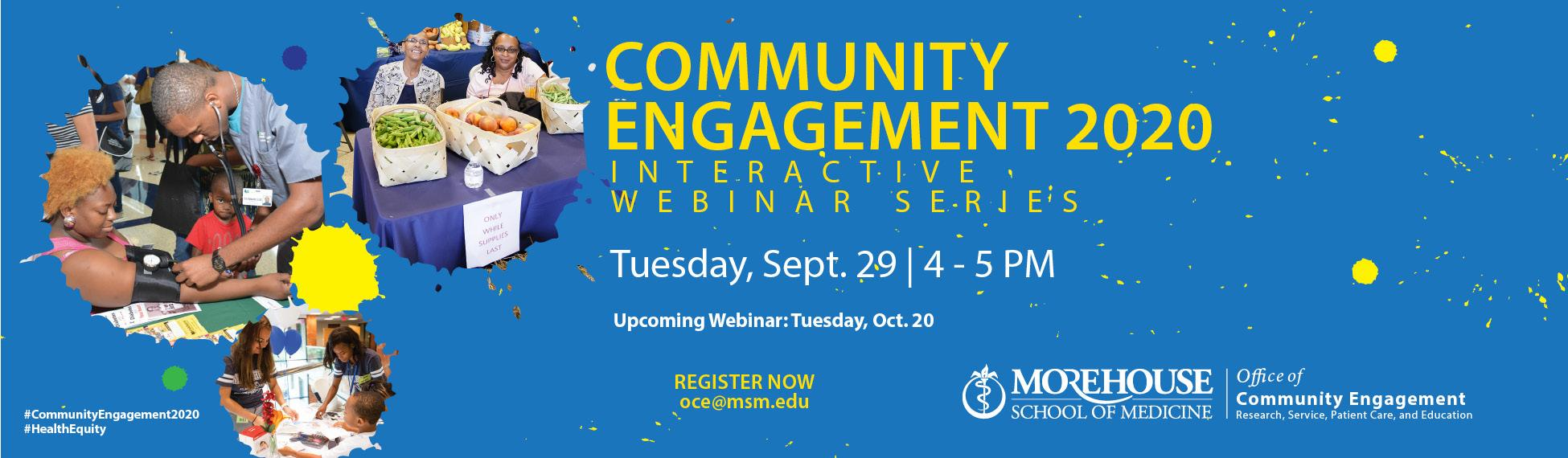 Register now for Community Engagement 2020