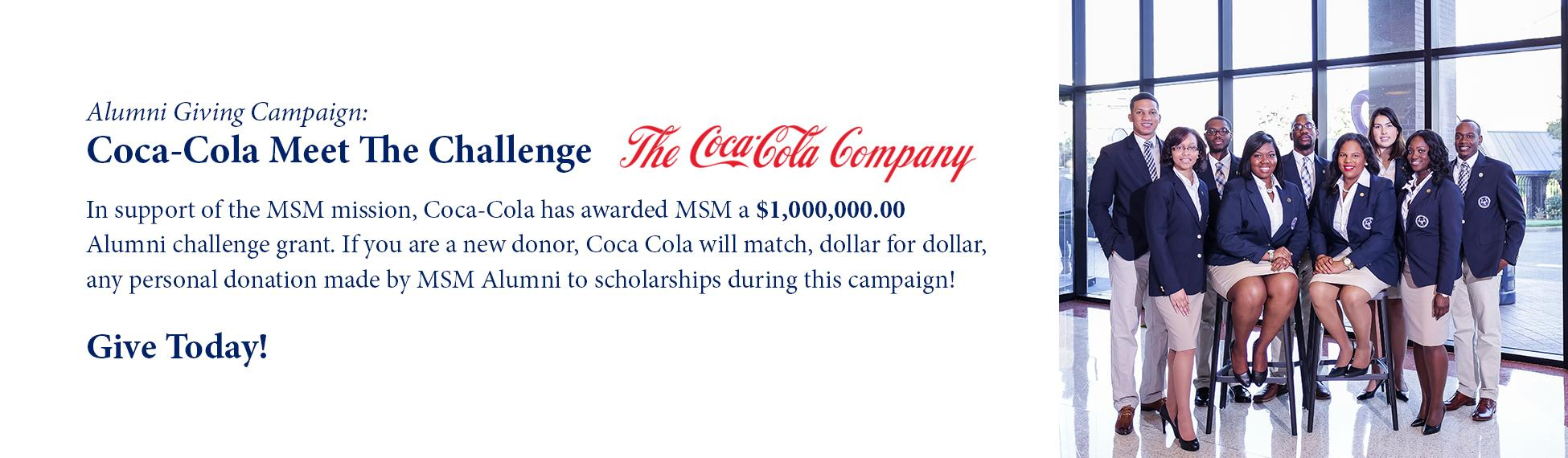 MSM and the Coca-Cola Meet The Challenge Campaign