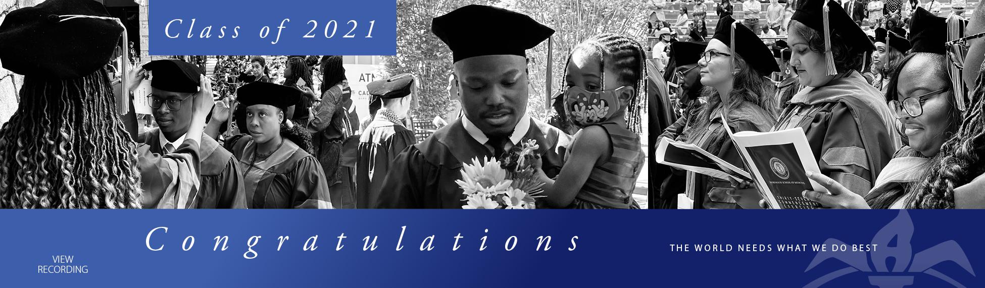 Commencement 2021 - Graduate Congrats