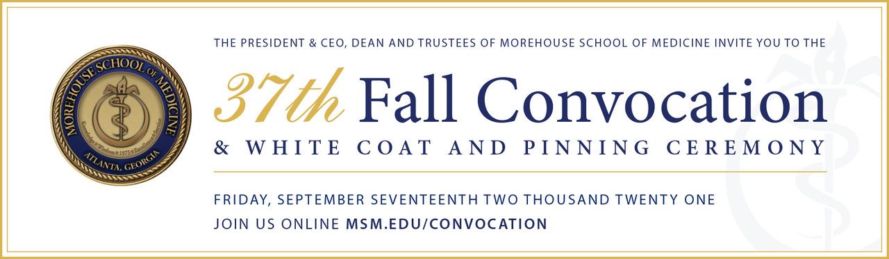 2021 MSM Convocation