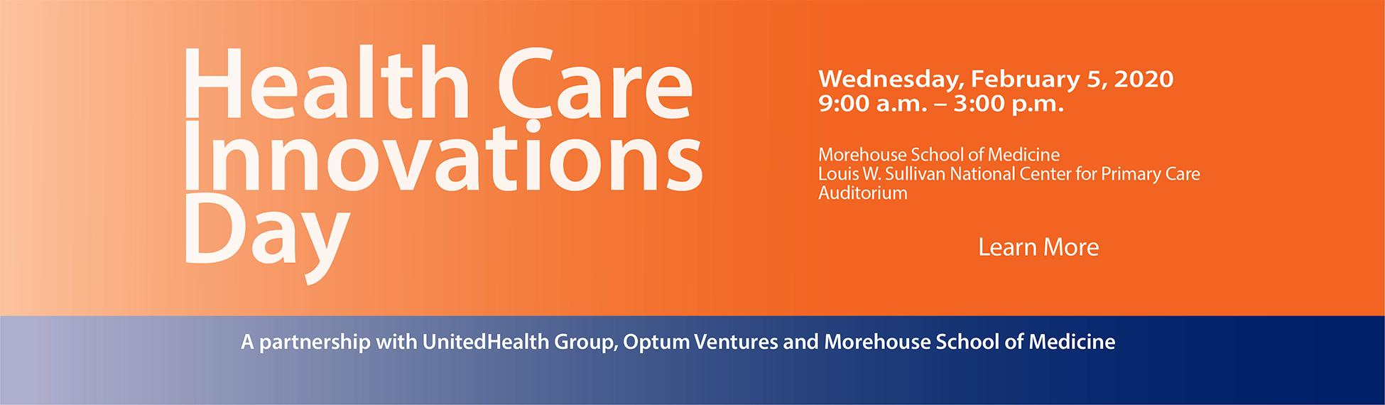 Health Care Innovations Day, Wednesday, February 5, 2020