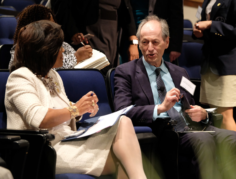 Dr. Valerie Montgomery Rice and Sir Michael Marmot