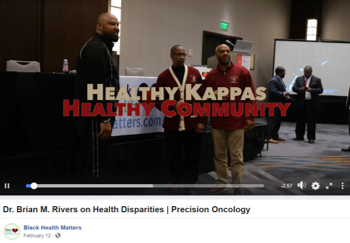 Black Health Matters Precision Oncology