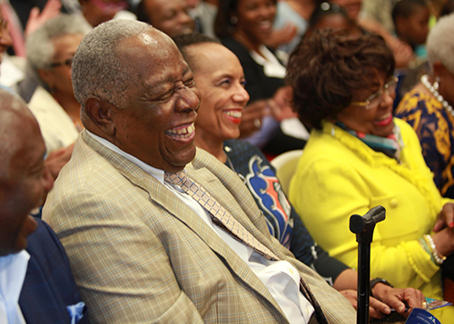 Hank Aaron at Gloster Event